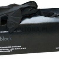 Montana rękawiczki latex czarne para