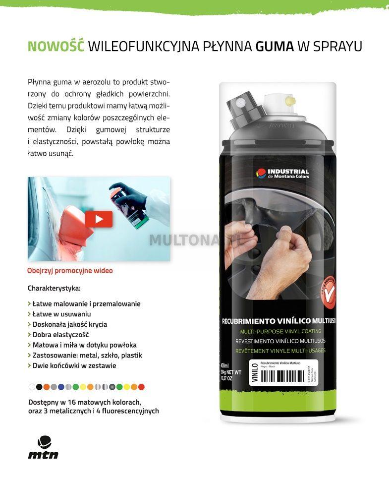 MTN Guma Metallic Aluminium 400ml